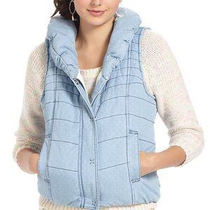 Anthropologie chambray vest